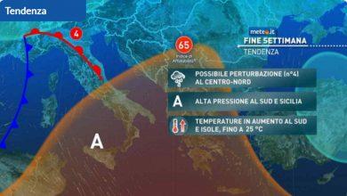 Photo of Meteo di domani e weekend. Nuova perturbazione?