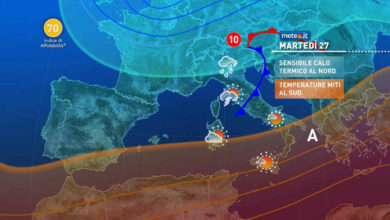 Photo of Meteo: oggi 27 Aprile peggiora al centro-nord