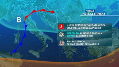 Photo of Meteo, nuova PERTURBAZIONE da DOMANI
