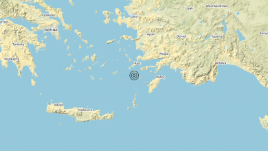 Photo of Terremoto Dodecanese Islands, Greece [Sea: Greece] – Magnitudo (ML) 5.0