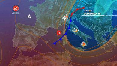 Photo of Meteo: domani inizia una fase più instabile