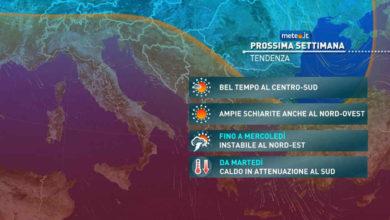 Photo of Meteo di domani: si afferma l'alta pressione. Clima mite e tempo stabile fino a 32 gradi