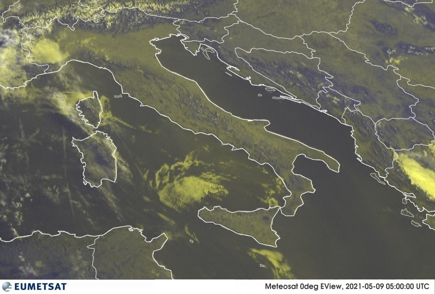 Previsioni Meteo Italia 09-05-2021