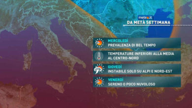 Photo of Meteo: da mercoledì 26 MAGGIO, quasi estate. Previsioni del tempo