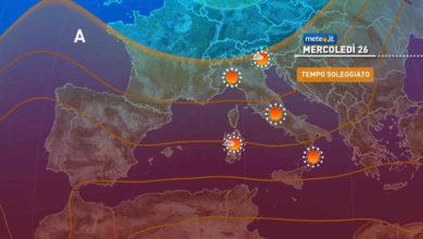 Photo of Meteo oggi: 25 maggio si allenta il maltempo