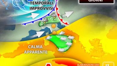 Photo of Meteo: prossimi giorni forti TEMPORALI in agguato. Attenzione ALLE MACCHINE