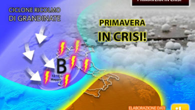 Photo of Meteo: previsioni del tempo con la PRIMAVERA in CRISI? Possibile CICLONE DI GRANDINE