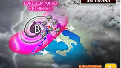 Photo of Meteo, oggi giornata ESTIVA. CLAMOROSI temporali in ARRIVO!
