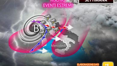Photo of Meteo: SVENTOLA di GRANDINE in arrivo. Prestare attenzione