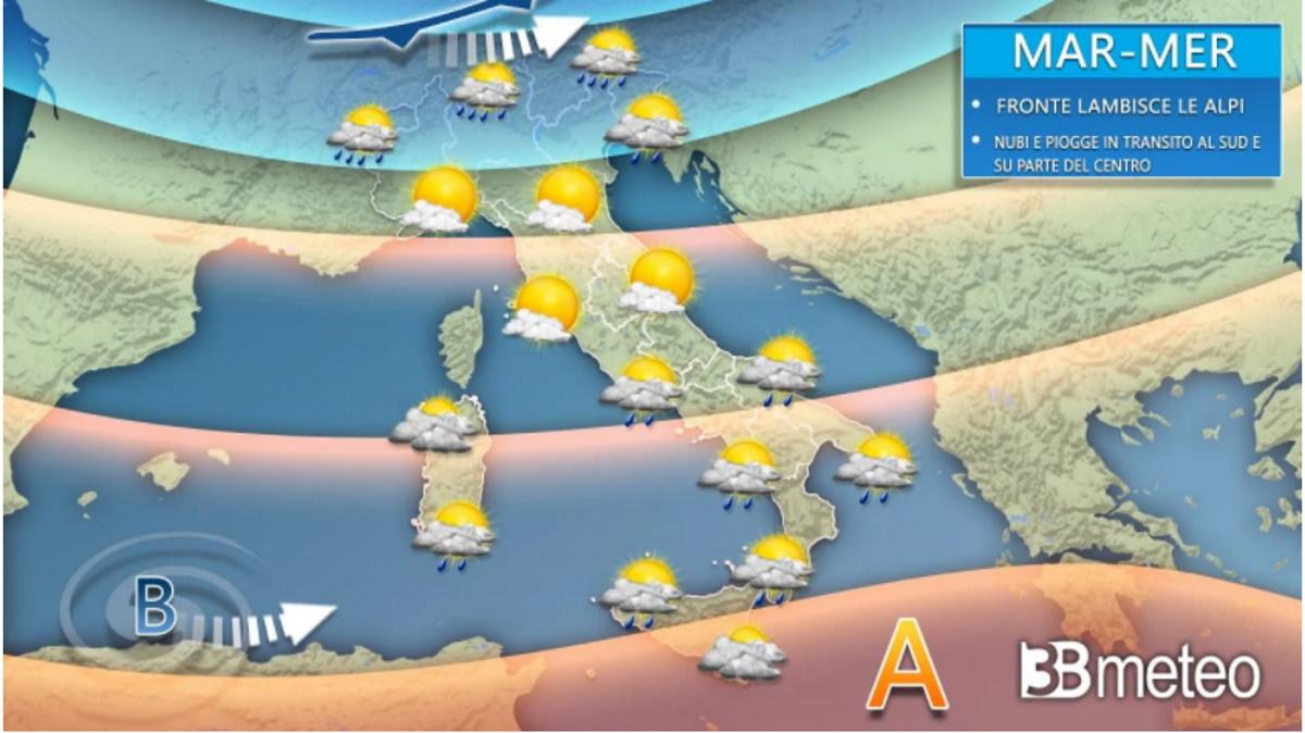 3b meteo, previsioni del tempo