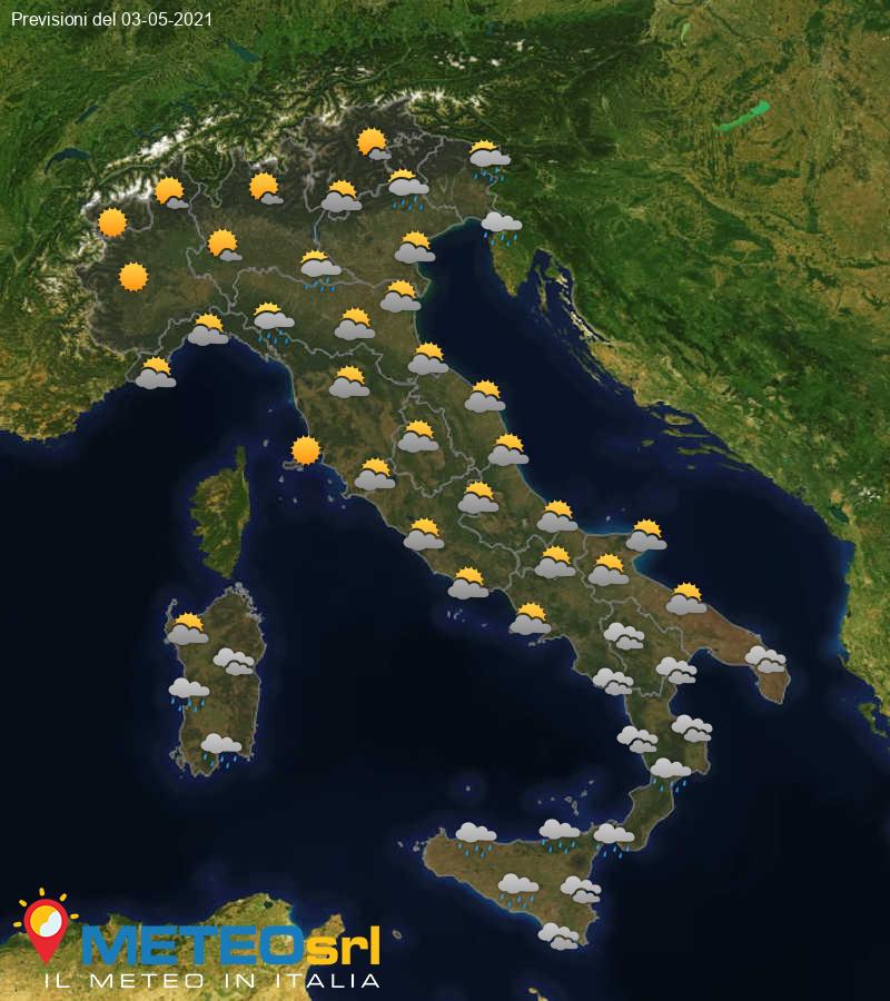 Previsioni Meteo Italia 03/05/2021