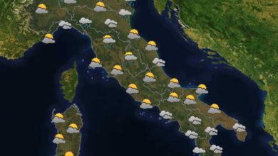 Photo of Meteo: oggi 7 maggio qualche piovasco