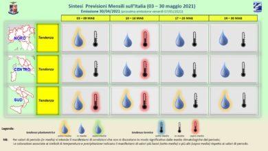 Photo of Meteoam: previsioni del tempo LUNGO TERMINE per MAGGIO 2021