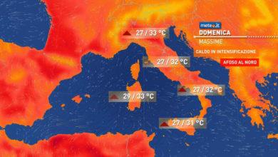 Photo of Meteo: oggi domenica 13 giugno caldo in AUMENTO