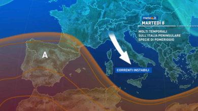 Photo of Meteo: previsioni per oggi 8 giugno 2021