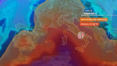 Photo of Meteo oggi: 3 giugno con caldo e alta pressione
