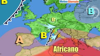 Photo of Meteo: STOP all' ESTATE. Temporali vento e fresco. Previsioni