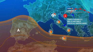 Photo of Meteolive: Italia divisa in due. Temporali e forti piogge in atto al NORD. Arriveranno anche al SUD. Ecco quando