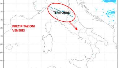 Photo of Meteo: previsioni oggi e domani. Arrivano i temporali