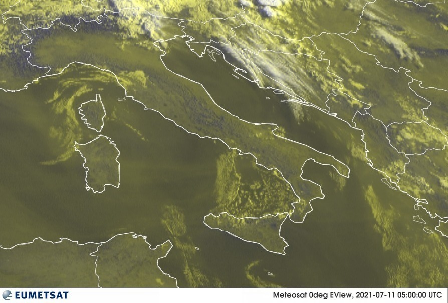 Previsioni Meteo Italia 11-07-2021