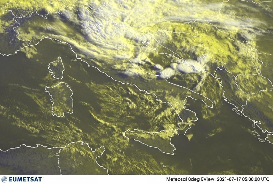 Previsioni Meteo Italia 17-07-2021