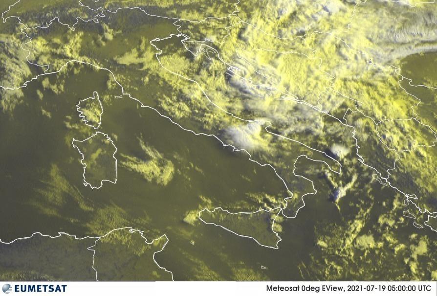 Previsioni Meteo Italia 19-07-2021