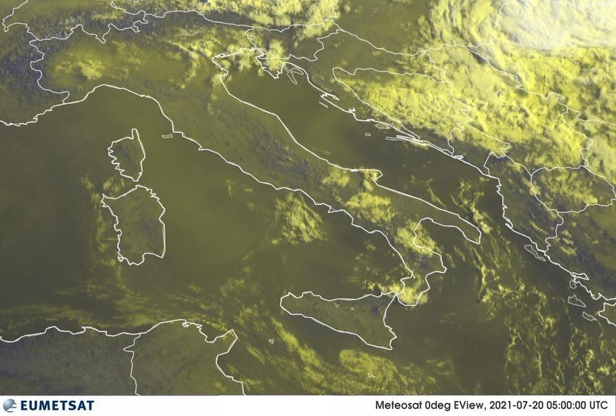 Previsioni Meteo Italia 20-07-2021