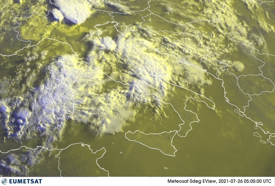 Previsioni Meteo Italia 26-07-2021