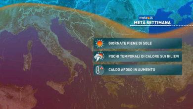 Photo of Meteo: previsioni del tempo per oggi e domani