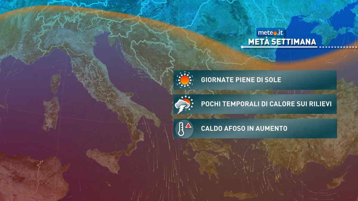 Il meteo di oggi, domani e della settimana. Previsioni