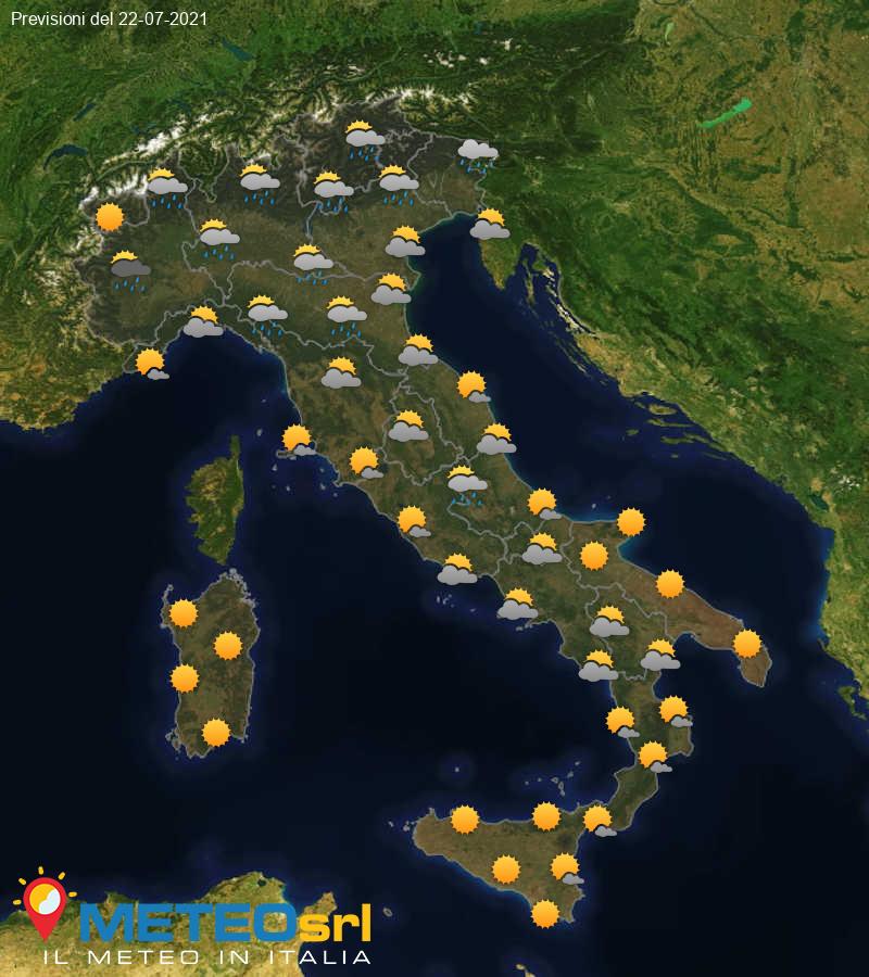 Previsioni Meteo Italia 22/07/2021