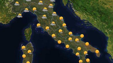 Photo of Previsioni del tempo per domani 24-07-2021
