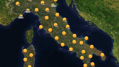 Photo of Previsioni del tempo per domani 29-07-2021