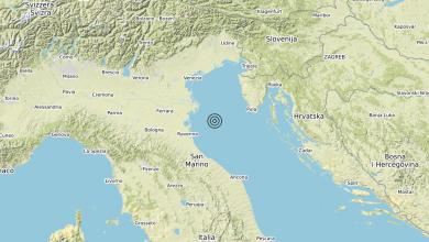 Photo of Terremoto Adriatico Settentrionale (MARE) – Magnitudo (ML) 4.1