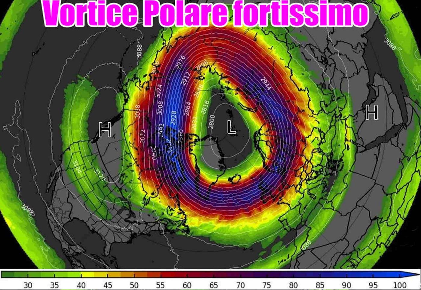 Previsioni inverno 2022 con il vortice polare