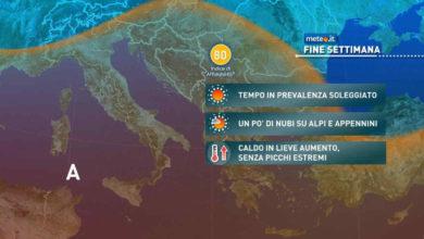 Photo of Meteo: previsioni di domani e weekend