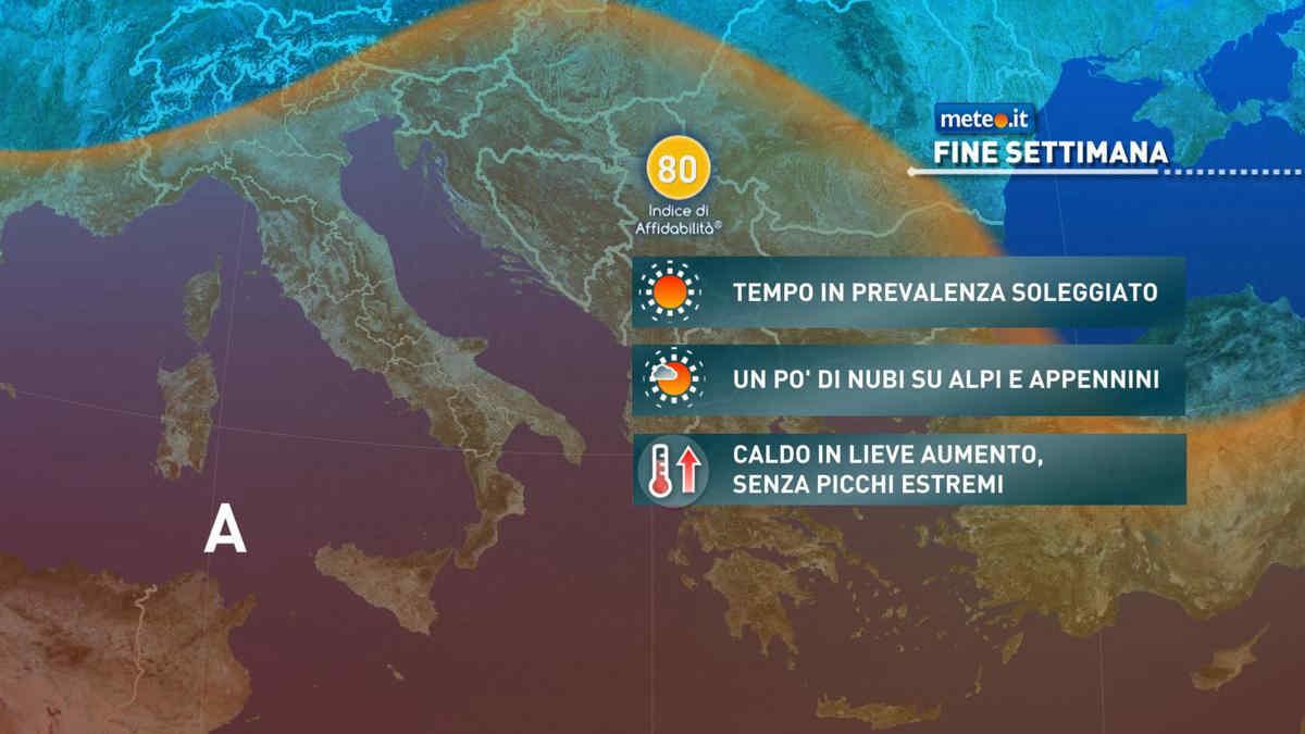Previsioni meteo di domani in Italia