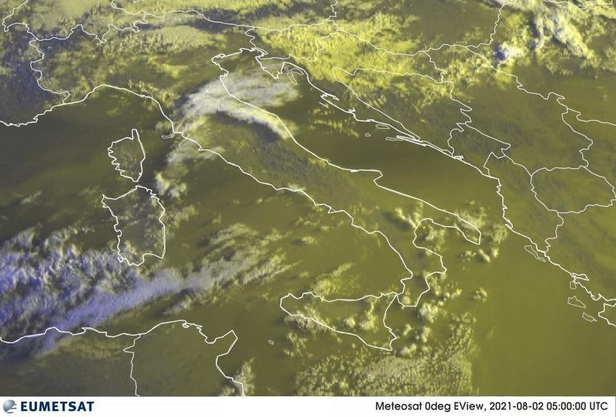 Previsioni Meteo Italia 02-08-2021