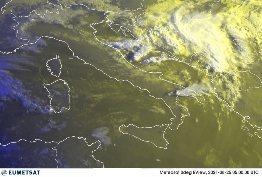Previsioni Meteo Italia 25-08-2021