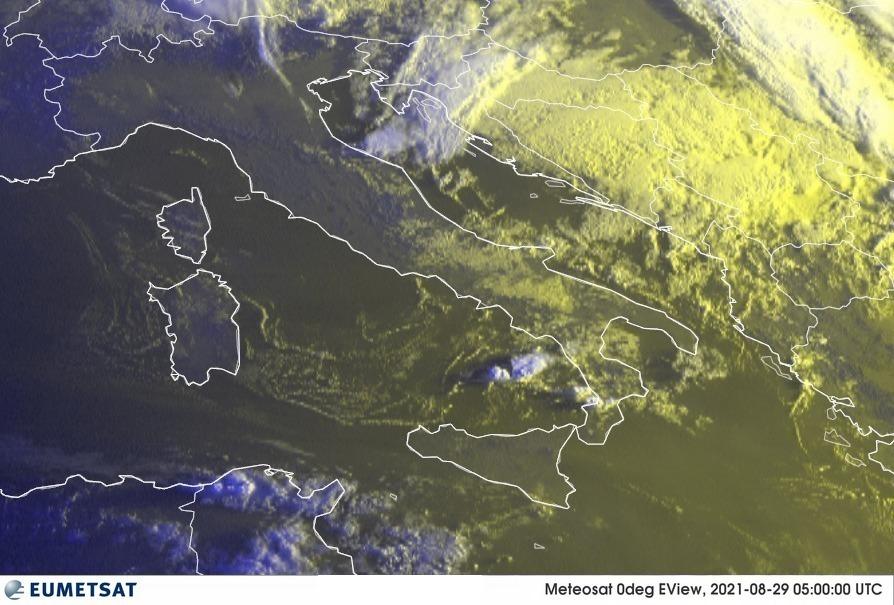 Previsioni Meteo Italia 29-08-2021