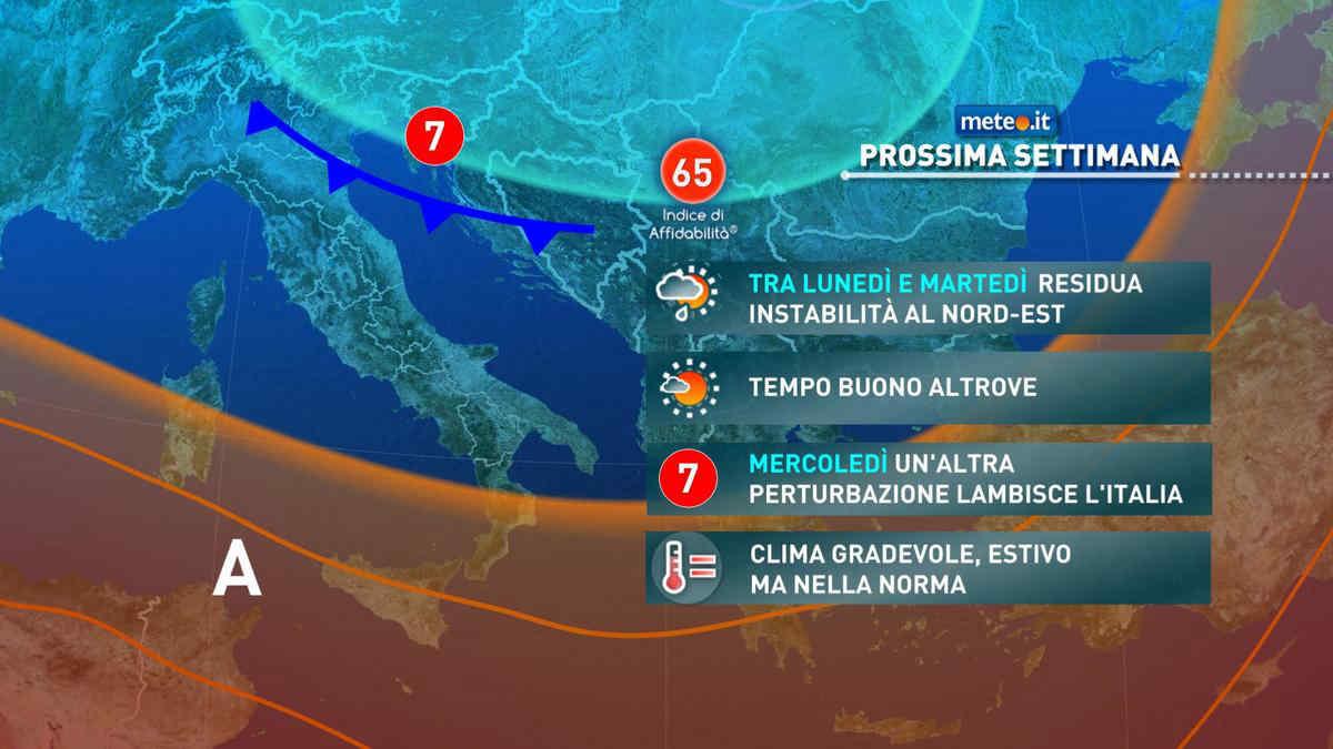 Previsioni meteo oggi e domani