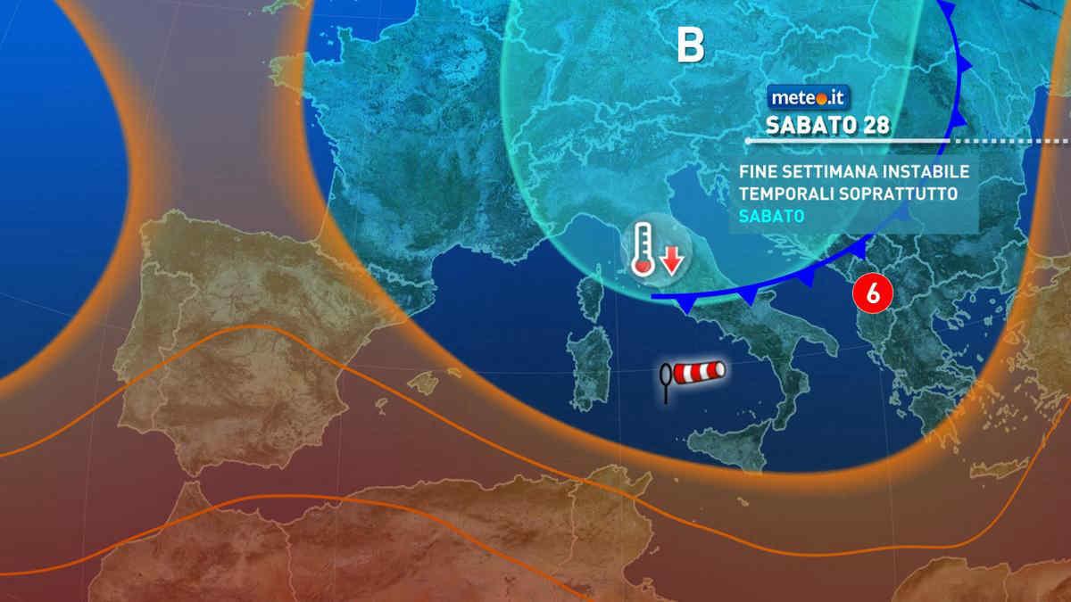 Previsioni meteo weekend
