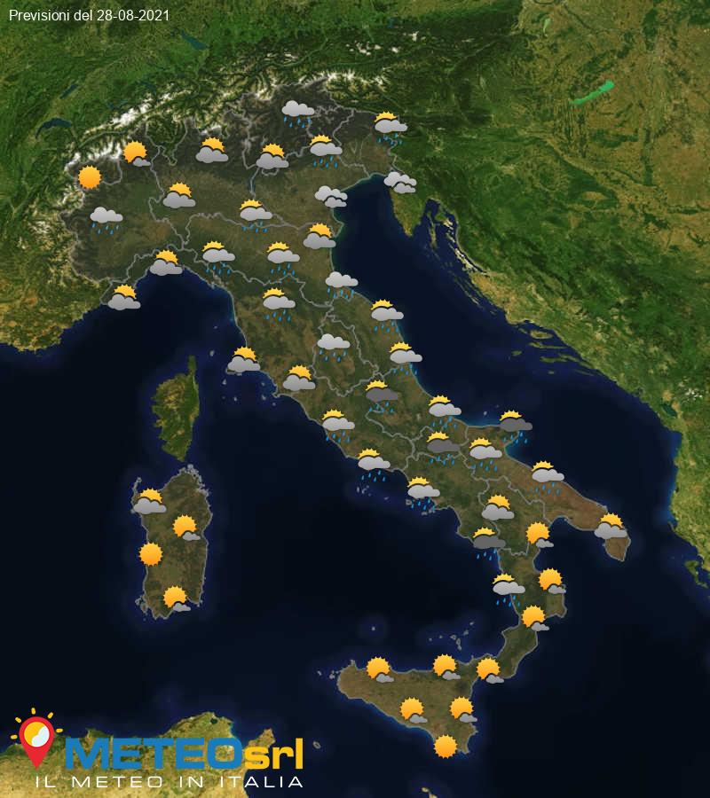 Previsioni Meteo Italia 28/08/2021