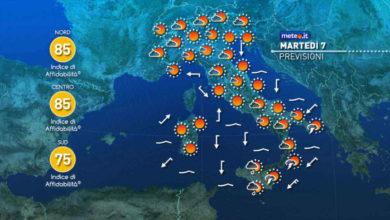 Photo of Meteo di oggi e domani: instabile al sud