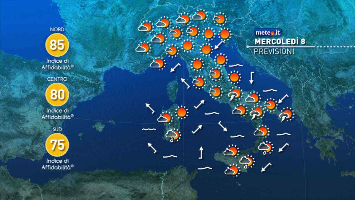 Il tempo in Italia nei prossimi giorni