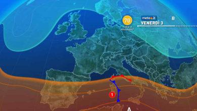 Photo of Meteo: weekend 3-4 settembre forti TEMPORALI e FREDDO?