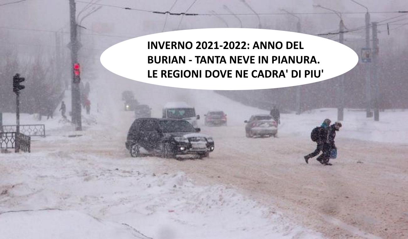 Previsioni meteo inverno 2021-2022: precipitazioni e tendenza
