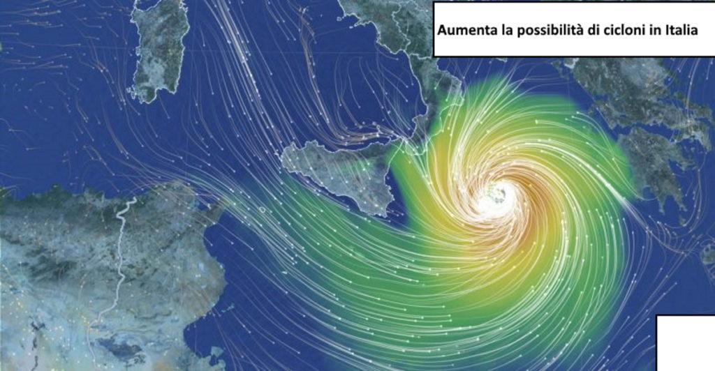 Formazione di un ciclone mediterraneo. Evoluzione meteo