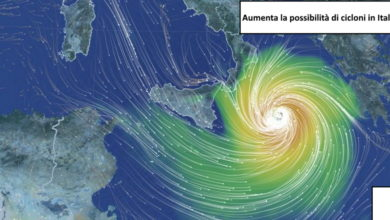 Photo of PERICOLOSO Ciclone mediterraneo. SI ALZA L' ALLARME