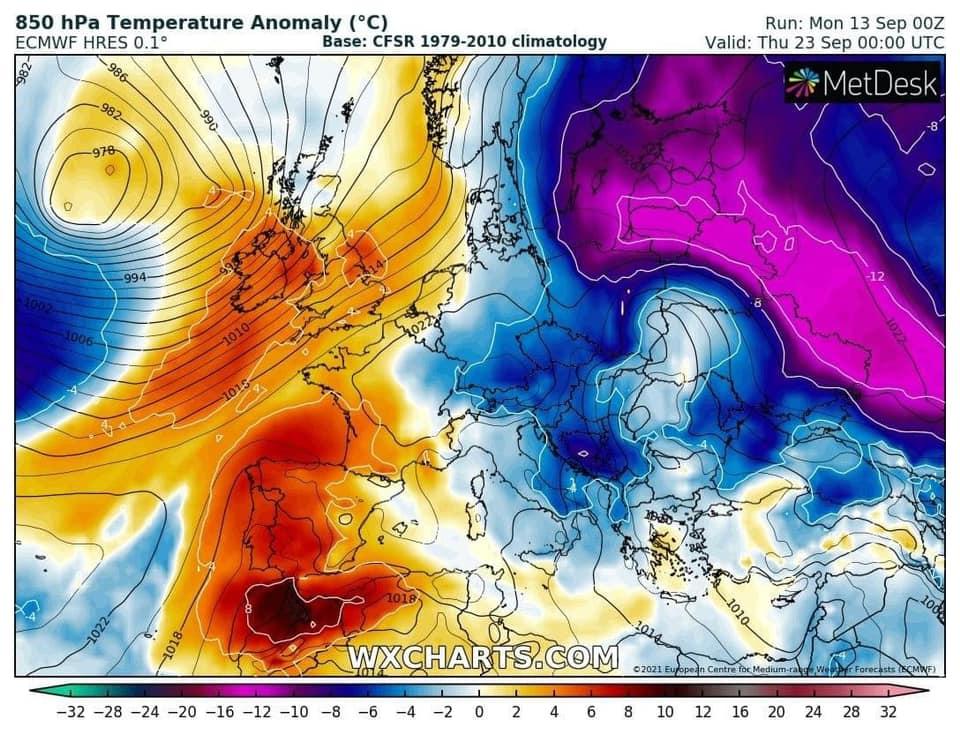 Il meteo di fine settembre. Sarà svolta fredda?